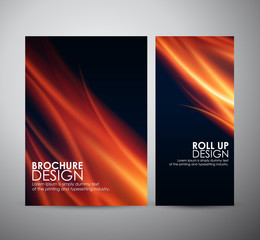Fire flames background. Brochure business design template or roll up.