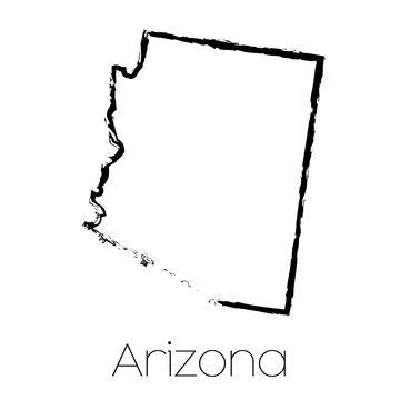 Scribbled shape of the State of Arizona