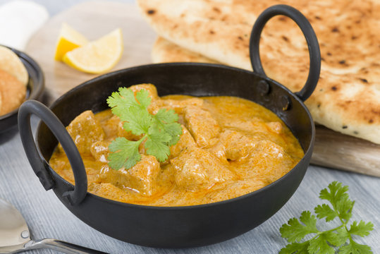 Chicken Korma - Chicken on a mildly spiced creamy sauce. Indian cuisine.