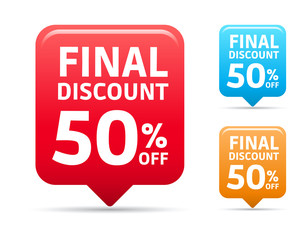 Final Discount 50% Off Tags