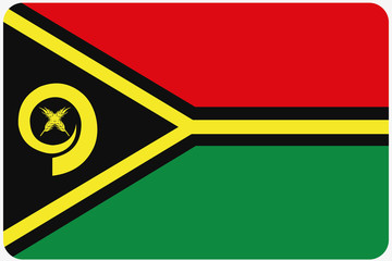 Flag Illustration with rounded corners of the country of Vanuatu