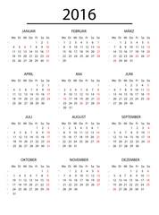 Jahreskalender 2016