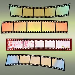 Grunge colorful film strip background