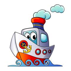 Funny cartoon ship