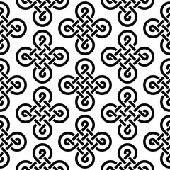 Celtic Irish knots seamless pattern, vector background