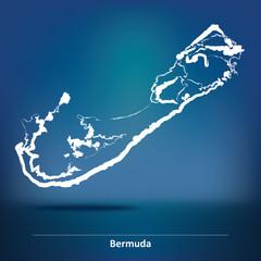 Doodle Map of Bermuda