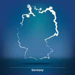 Doodle Map of Germany