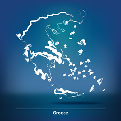 Doodle Map of Greece