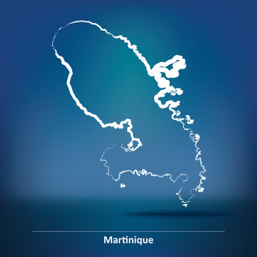 Doodle Map of Martinique