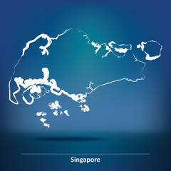 Doodle Map of Singapore