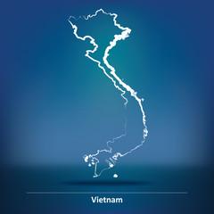 Doodle Map of Vietnam