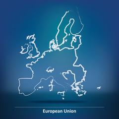 Doodle Map of European Union 2015
