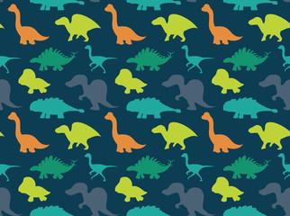 Dinosaurs Wallpaper Vector Illustration 8