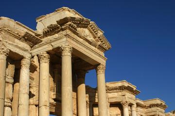 Palmyra, Syria Dach des Theaters