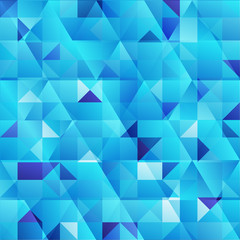 Blue abstract triangles vector background