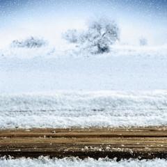desk of snow