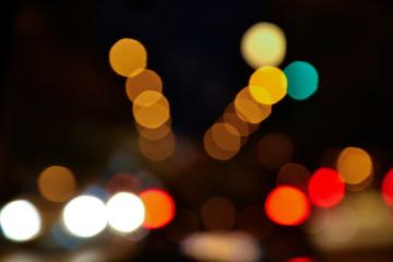 Luci di città, paesaggio urbano notturno