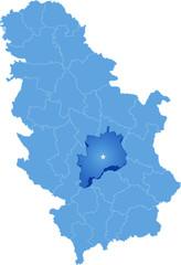 Map of Serbia, Subdivision Rasina District