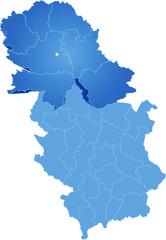 Map of Serbia, Autonomous Province of Vojvodina