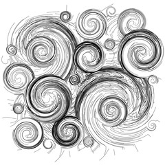 vector abstract black patterns on a white background