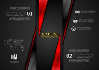 Contrast black red tech presentation brochure