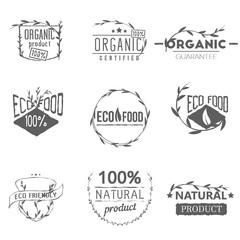 Set of vintage organic labels, badges and design elements for your emblems.