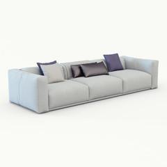 Sofa cloth on white background