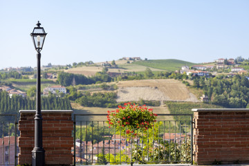 Langhe Hilly Region: viewpoint of  Dogliani (Cuneo). Color image