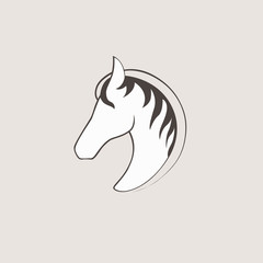 Vector logo horse. template for your business. Pegasus creative