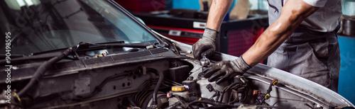 Fixing automotive engine
