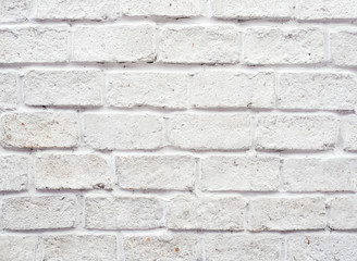 Abstract white brick wall background