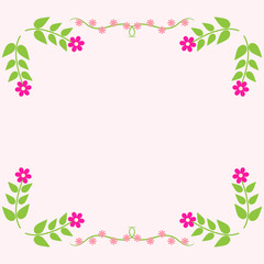 Painted floral greeting card. Flower pattern.
