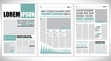 Green graphical design newspaper template