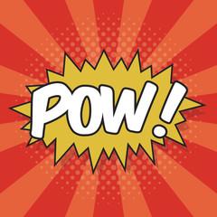 POW! Wording Sound Effect for Comic Speech Bubble