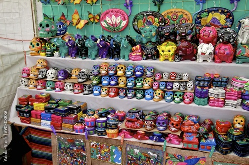 arts crafts mexico city local market stock photo and royalty free