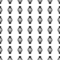 Watch seamless pattern. Vector
