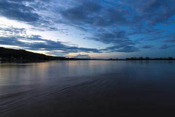 Sunset on the Beni river in Rurrenabaque, Bolivia.