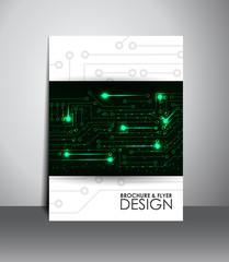Flyer or brochure design with digital technology.