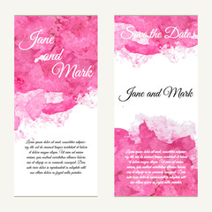 Invitation card on wedding, birthday. Background with watercolor