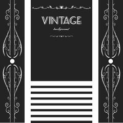 vintage background frame design black vector