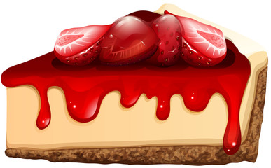 Strawberry cheesecake with jam