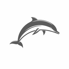 Jumping dolphins vector ilstration  / Vector illustration, Dolphin, Jumping, Silhouette, Aquatic Mammal, Vector,