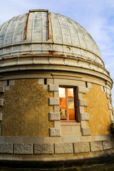 Observatory dome with beautiful window reflection