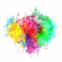 Colorful paint large cloud