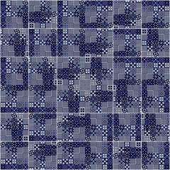 Fotomurales - Background blue and white. Ceramic tile in Lisbon street, Portug