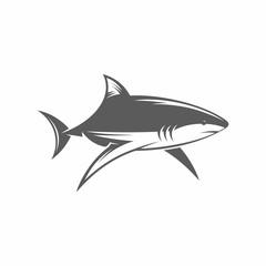 Shark in water vector illustration / Vector illustration, Shark, Tattoo, Vintage, Underwater, Fish, Animals