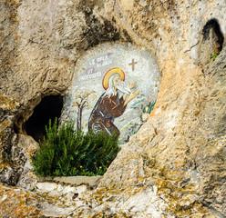 Montenegro landmark - Serbian Christian monastery Ostrog.