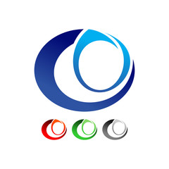 Abstract Eye Symbol Logo Design