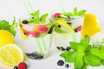 refreshing cold lemonade