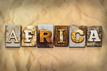 Africa Concept Rusted Metal Type